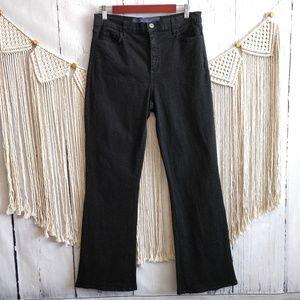 NYDJ Black High Rise Studded Flare Denim Jeans 12